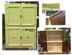 Vintage HYGENA Wall Larder Pantry Unit Old Painted 1930's