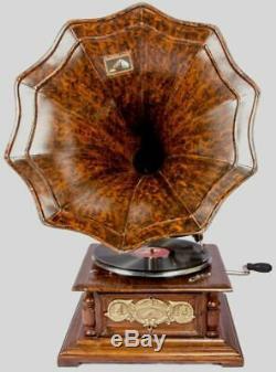 Vintage Hmv Antique Old Machine Wooden Collectible Gramophone Phonograph BG 08