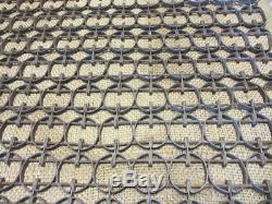 Vintage Metal Linked Floor Mat Unique Design Antique Old Welcome 9910