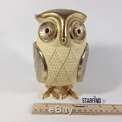 Vintage Old 1960 Eames Era Panton Antique Owl Motif Japan Transistor Radio Bubo