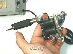 Vintage Old Antique Spaulding & Rogers FLATSIDE Supreme Tattoo Machine w power