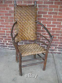 Vintage Old Hickory Large High-back Arm Chair Side Chair Original