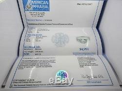 Vintage Platinum Old Mine Diamond Ring 0.97CT Antique Appraisal $4990