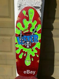 Vintage SIMS Lester Kasai Rookie Rare Skateboard Deck USA Neptune Tracker Old