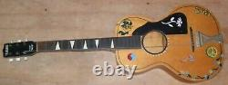 Vintage TELLENO Acoustic Guitar OLD parlor 1940's Hippie Guitar! Good Condition
