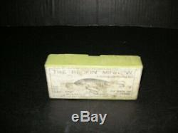 Vintage old early antique wood jim donaly fishing lure in box newark new jersey
