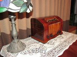 Vintage old wood antique tube radio Emerson Mdl FH440 Quite Rare