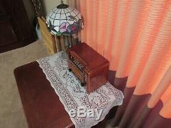 Vintage old wood antique tube radio Philco Mdl PT-6 Transitone Nice