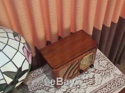 Vintage old wood antique tube radio Philco mdl 38-12 Just Restored