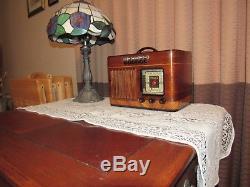 Vintage old wood antique tube radio Philco mdl 40-125 Just Restored
