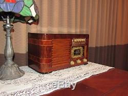 Vintage old wood antique tube radio ZENITH model 6S527 A must have