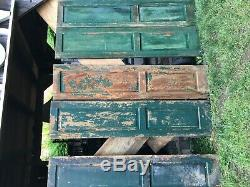 Vtg 1 Pair 1800's Old Wooden Window Shutters Architectural Salvage 63 X 14.5