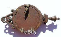 Vtg Cast Iron Retro Speakeasy Peep Hole Box & Door Knocker Old Door Hardware