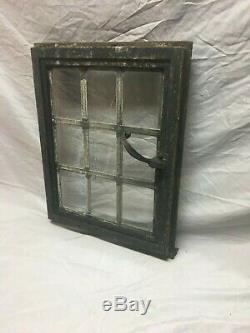 Vtg Industrial Steel 16X20 Casement 9 Lite Window Old Factory Warehouse 201-19J