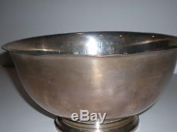 Vtg Old 925 Gorham 10.5 Sterling Silver 41661 P Revere Reproduction Bowl 37.5oz
