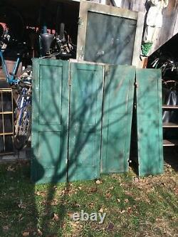 Vtg Pair Shabby Old Wooden Window Shutters Architectural Salvage Screen 54 x15