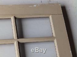 Vtg Solid Wood Dutch Door 9 Lite Top Old Shabby Cottage Exterior Entry 522-16