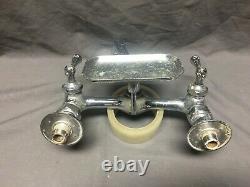 Vtg Speakman High Back Kitchen Sink Faucet Chrome Brass 8 Old Fixture 442-19J
